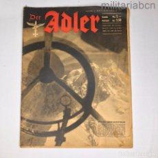 Militaria: ALEMANIA III REICH. REVISTA DER ADLER, PUBLICACIÓN DE LA LUFTWAFFE. Nº 2 ENERO 1943.. Lote 290053278