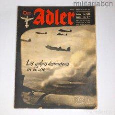 Militaria: ALEMANIA III REICH. REVISTA DER ADLER, PUBLICACIÓN DE LA LUFTWAFFE. Nº 15 JULIO 1941.. Lote 290053358