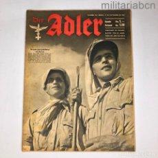 Militaria: ALEMANIA III REICH. REVISTA DER ADLER, PUBLICACIÓN DE LA LUFTWAFFE. Nº 23 NOVIEMBRE 1942.. Lote 290053953