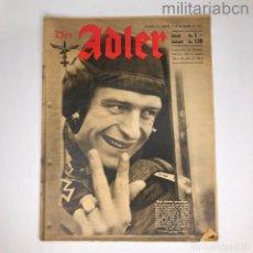 Militaria: ALEMANIA III REICH. REVISTA DER ADLER, PUBLICACIÓN DE LA LUFTWAFFE. Nº 25 DICIEMBRE 1942. Lote 290054018