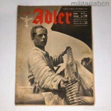 Militaria: ALEMANIA III REICH. REVISTA DER ADLER, PUBLICACIÓN DE LA LUFTWAFFE. Nº 18 SEPTIEMBRE 1942. Lote 290054178