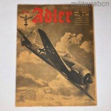 Militaria: ALEMANIA III REICH. REVISTA DER ADLER, PUBLICACIÓN DE LA LUFTWAFFE. Nº 10 MAYO 1942. Lote 290054438