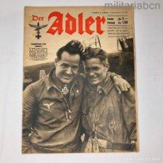 Militaria: ALEMANIA III REICH. REVISTA DER ADLER, PUBLICACIÓN DE LA LUFTWAFFE. Nº 16 AGOSTO 1942. Lote 290054538