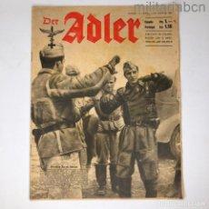 Militaria: ALEMANIA III REICH. REVISTA DER ADLER, PUBLICACIÓN DE LA LUFTWAFFE. Nº 14 JULIO 1942. Lote 290054793