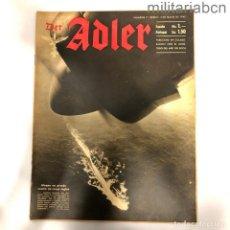 Militaria: ALEMANIA III REICH. REVISTA DER ADLER, PUBLICACIÓN DE LA LUFTWAFFE. Nº 9 MAYO 1942. Lote 290054883