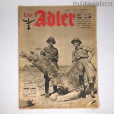 Militaria: ALEMANIA III REICH. REVISTA DER ADLER, PUBLICACIÓN DE LA LUFTWAFFE. Nº 7 ABRIL 1942. Lote 290054953