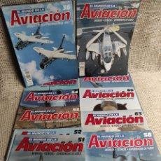 Militaria: EL MUNDO DE LA AVIACION - LOTE DE 19 FASCICULOS. Lote 28615419