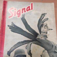 Militaria: ANTIGUA REVISTA SIGNAL PRIMER NÚMERO DE NOVIEMBRE 1941, EN ALEMÁN NUMERO 21, PORTADA ROTA. Lote 292951853