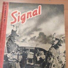 Militaria: ANTIGUA REVISTA SIGNAL SEGUNDO NÚMERO DE NOVIEMBRE 1941, EN ESPAÑOL NUMERO 22. Lote 292952608