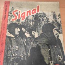 Militaria: ANTIGUA REVISTA SIGNAL PRIMER NÚMERO DE MARZO 1943, EN ESPAÑOL, NUMERO 5, ARTÍCULO DIVISIÓN AZUL. Lote 293024988