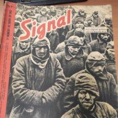 Militaria: ANTIGUA REVISTA SIGNAL PRIMER NÚMERO DE ENERO 1942, EN ESPAÑOL, NUMERO 1, ARTÍCULO DIVISION AZUL. Lote 293142748