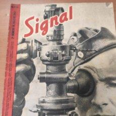 Militaria: ANTIGUA REVISTA SIGNAL SEGUNDO NÚMERO DE JULIO 1942, EN ESPAÑOL, NUMERO 14. Lote 293150438