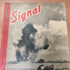 Militaria: ANTIGUA REVISTA SIGNAL PRIMER NÚMERO DE SEPTIEMBRE 1942, EN ALEMAN, NUMERO 17. Lote 293150683