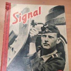 Militaria: ANTIGUA REVISTA SIGNAL SEGUNDO NÚMERO DE SEPTIEMBRE 1942, EN ALEMAN, NUMERO 18. Lote 293150828