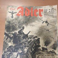 Militaria: ANTIGUA REVISTA DER ADLER, PERO EN ESPAÑOL, HECHA EN ALEMANIA, BERLIN AGOSTO 1941. Lote 293151933