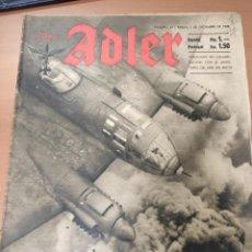 Militaria: ANTIGUA REVISTA DER ADLER, PERO EN ESPAÑOL, HECHA EN ALEMANIA, BERLIN DICIEMBRE 1942, DIVISIÓN AZUL. Lote 293152498