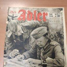 Militaria: ANTIGUA REVISTA DER ADLER, PERO EN ESPAÑOL, HECHA EN ALEMANIA, BERLIN JULIO 1943, DIVISIÓN AZUL. Lote 293152673