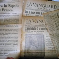 Militaria: 4 LA VANGUARDIA GUERRA CIVIL . BOMBARDEO BARCELONA RECONQUISTA DE GERONA . MUERTE PAPA PIO XI . 1939. Lote 294461798