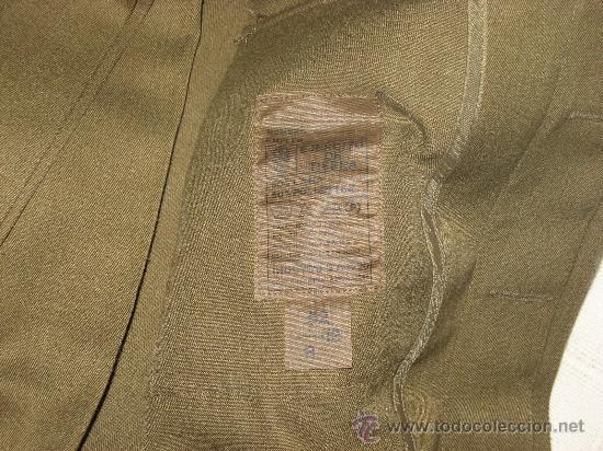 Militaria: UNIFORME DE TRABAJO CUADROS DE MANDO (HOMBRE).,AÑOS 90,TALLA 52-12-R) - Foto 3 - 21283667