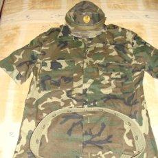 Militaria: LOTE MILITAR. CAMISOLA + CINTURÓN + GORRA. SET CAMUFLAJE. AÑOS 90. USADO / . . Lote 19778533