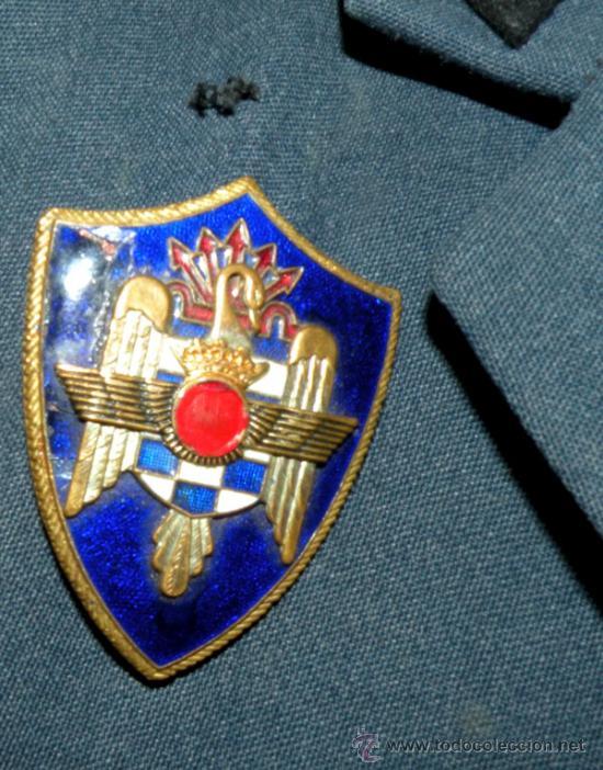 Militaria: ANTIGUO UNIFORME DE ALFEREZ DE MILICIAS DEL EJERCITO DEL AIRE - EPOCA DE FRANCO - ROMBOS EN TELA NEG - Foto 9 - 24836835