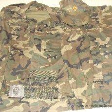 Militaria: UNIFORME DE CAMPAÑA. CAMISOLA + PANTALÓN + GORRA + 2 CINTURONES. TALLA 1L. AÑOS 90. . Lote 28481433