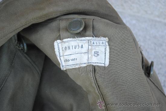 Militaria: CHAQUETON 3/4 DE CAMPAÑA. FABRICADO POR CONTUSA EN 1971. TALLA 5. - Foto 2 - 28633320