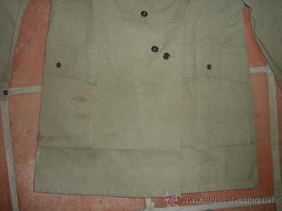 Militaria: Antigua chaqueta o chaqueton militar grueso. guerra civil o años 40 - Foto 4 - 31921260