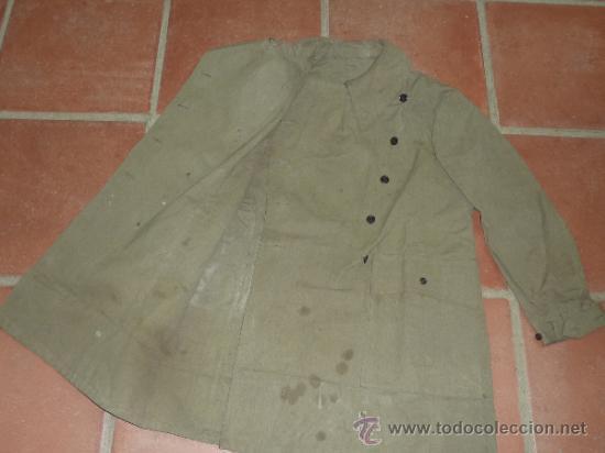 Militaria: Antigua chaqueta o chaqueton militar grueso. guerra civil o años 40 - Foto 7 - 31921260