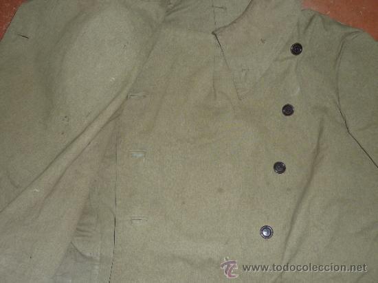 Militaria: Antigua chaqueta o chaqueton militar grueso. guerra civil o años 40 - Foto 8 - 31921260