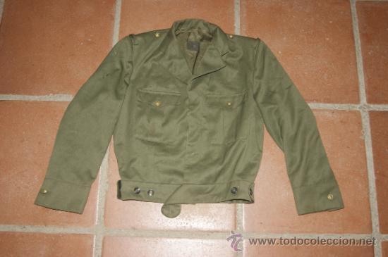 Venta Antigua En Chaqueta Vendido Militar Española Corta Directa wxqzxUYTB