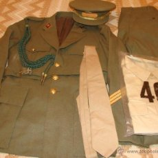 Militaria: UNIFORME EJÉRCITO ESPAÑOL. IMEC. CON ROMBOS DE SANIDAD , GORRA SEVILLA, GUERRERA, PANTALÓN, CORBATA. Lote 40535487