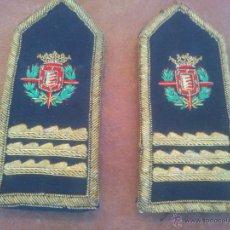 Militaria: ANTIGUAS HOMBRERAS PARA TRAJE DE GALA ESCUDO VALLADOLID. Lote 43854488