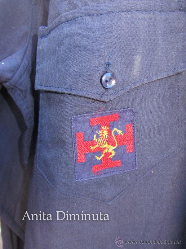 Militaria: ANTIGUA CAMISA DE LA ORGANIZACIÓN JUVENIL ESPAÑOLA - OJE - CADETE O GUIA - CON SUS DOS PARCHES DE OJ - Foto 3 - 46009316