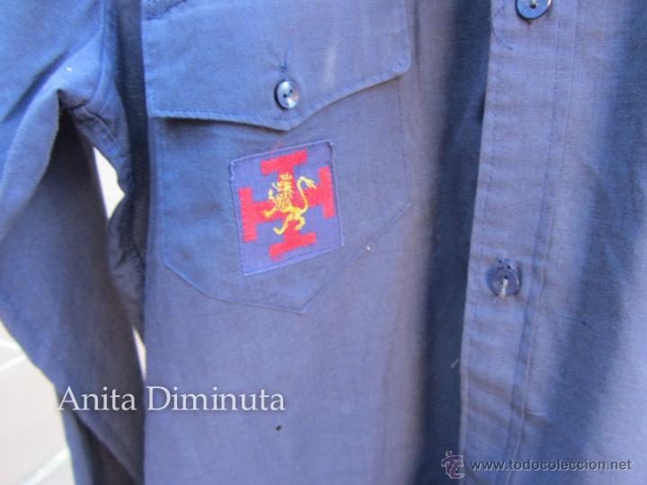 Militaria: ANTIGUA CAMISA DE LA ORGANIZACIÓN JUVENIL ESPAÑOLA - OJE - CADETE O GUIA - CON SUS DOS PARCHES DE OJ - Foto 5 - 46009316