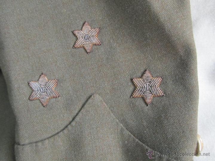 Militaria: Antiguo traje militar: chaqueta + pantalón - Foto 2 - 47048185