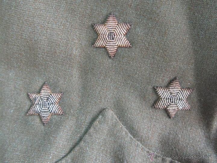 Militaria: Antiguo traje militar: chaqueta + pantalón - Foto 3 - 47048185