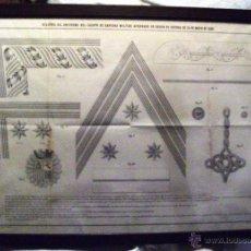 Militaria: LITOGRAFIA, UNIFORME SANIDAD MILITAR. GUERRA FILIPINAS. 1869. Lote 54772100
