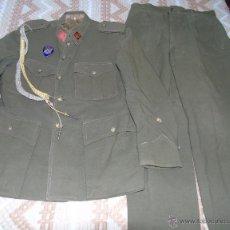 Militaria: UNIFORME ESPAÑOL. ALFÉREZ DE INFANTERÍA DE LA IPS. CON ROMBOS, PLACA, CORDÓN. GUERRERA Y PANTALÓN. Lote 47880378