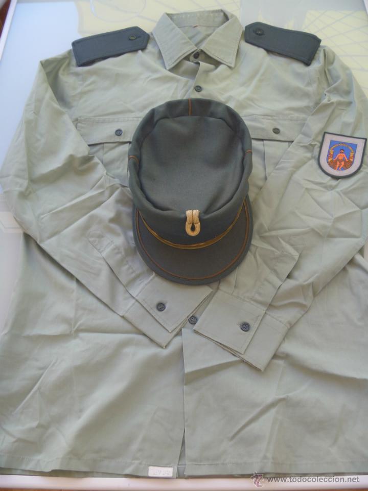 LOTE GUARDIA CIVIL : CAMISA , TERESIANA Y PARCHE DE LA PROVINCIA DE CADIZ (Militar - Uniformes Españoles )