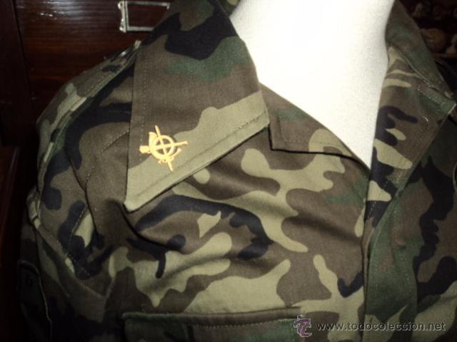 Militaria: EJERCITO ESPAÑOL DIVISION ACORAZADA BRUNETE D.A AÑOS 90 CAMISA CAMISOLA TALLA 2N - Foto 3 - 52375025