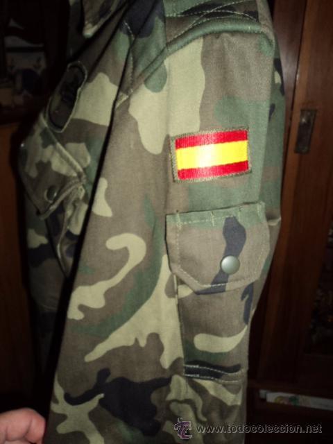Militaria: EJERCITO ESPAÑOL DIVISION ACORAZADA BRUNETE D.A AÑOS 90 CAMISA CAMISOLA TALLA 2N - Foto 5 - 52375025