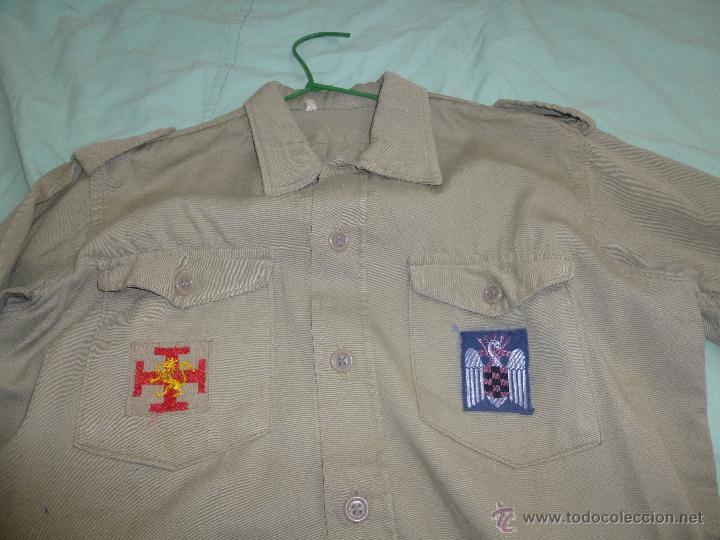 Militaria: uniforme o.j.e....camisa y boina.organizacion juvenil española... - Foto 2 - 52748013