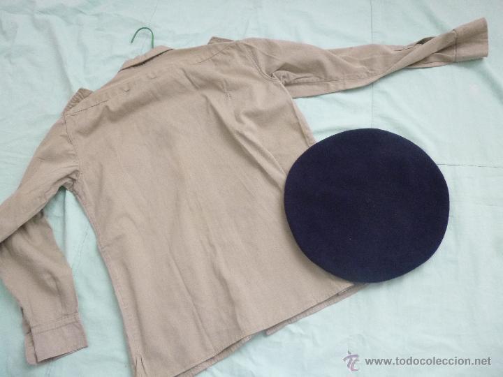 Militaria: uniforme o.j.e....camisa y boina.organizacion juvenil española... - Foto 3 - 52748013