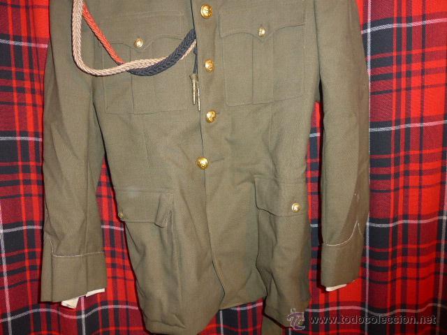 Militaria: Antigua guerrera regl 43 de sanidad militar español + placa SEU + cadetera - Foto 4 - 54076660