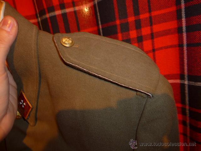 Militaria: Antigua guerrera regl 43 de sanidad militar español + placa SEU + cadetera - Foto 7 - 54076660