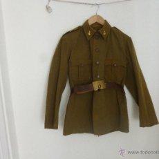 Militaria: GUERRERA DOS BOLSILLOS CON CINTO..SOLDADO ARTILLERIA ....GUERRA CIVIL.. Lote 54371535