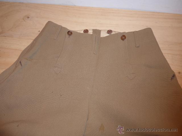 Militaria: Antiguo pantalon breches de pana, original, ejercito republicano, guerra civil. Pantalones - Foto 2 - 54444961