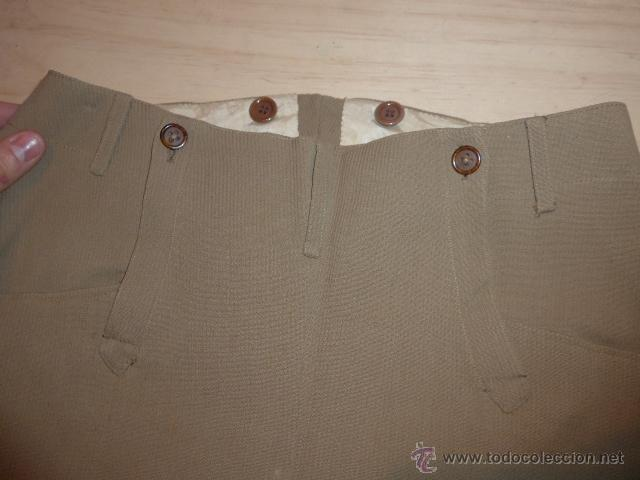 Militaria: Antiguo pantalon breches de pana, original, ejercito republicano, guerra civil. Pantalones - Foto 3 - 54444961