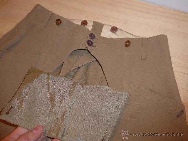 Militaria: Antiguo pantalon breches de pana, original, ejercito republicano, guerra civil. Pantalones - Foto 4 - 54444961